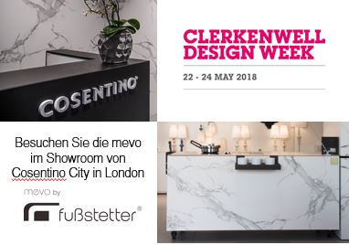 mevo auf der Clerkenwell Design Week in London, Mai 2018
